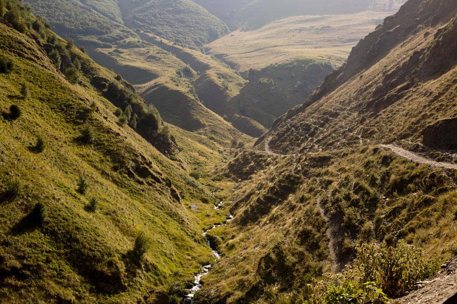 Berglandschaft, Kazbegi, Georgien