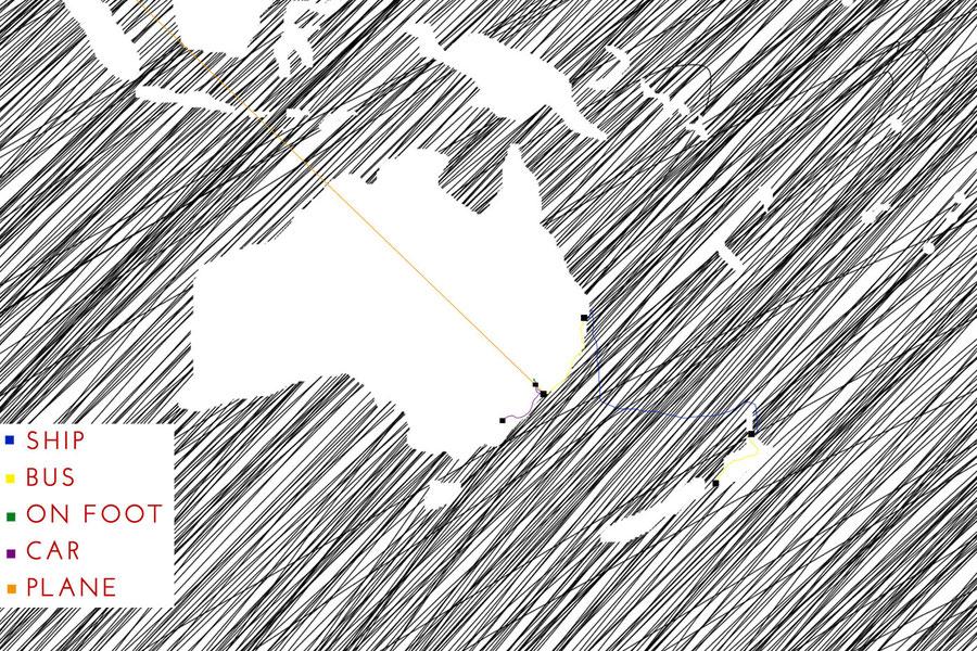 Travelmap Oceania