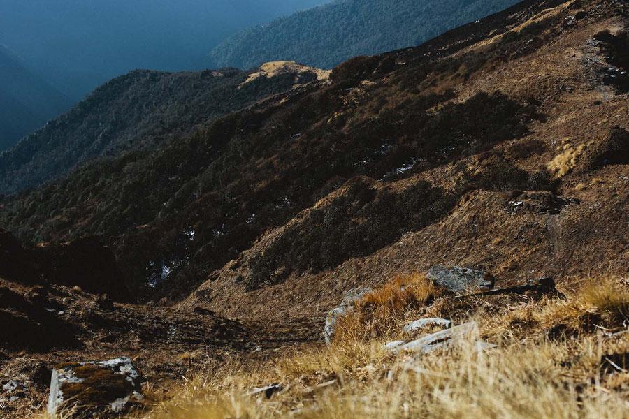The drop, Mardi Himal Trek, Nepal