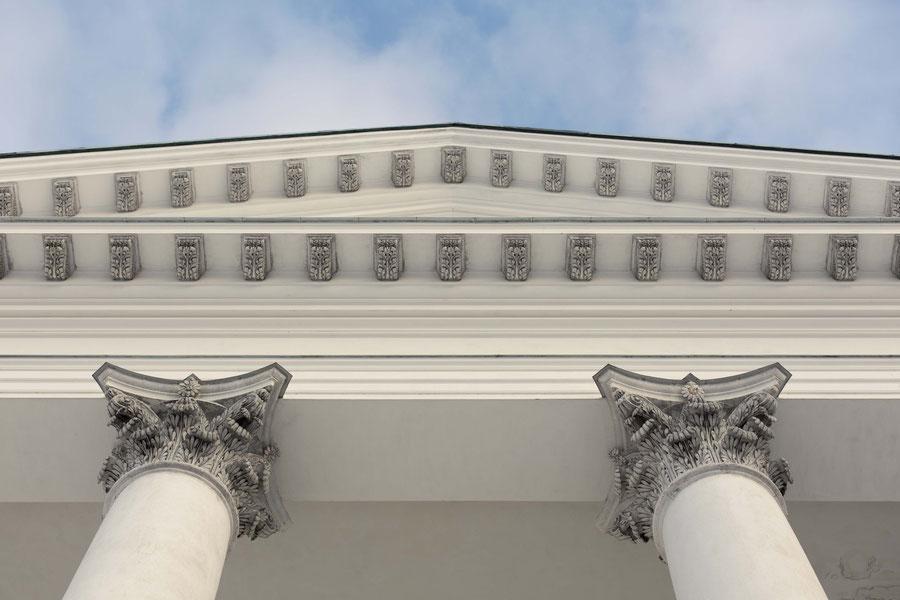 Detail, Helsinki cathedral, Senate Square, Helsinki, Finland