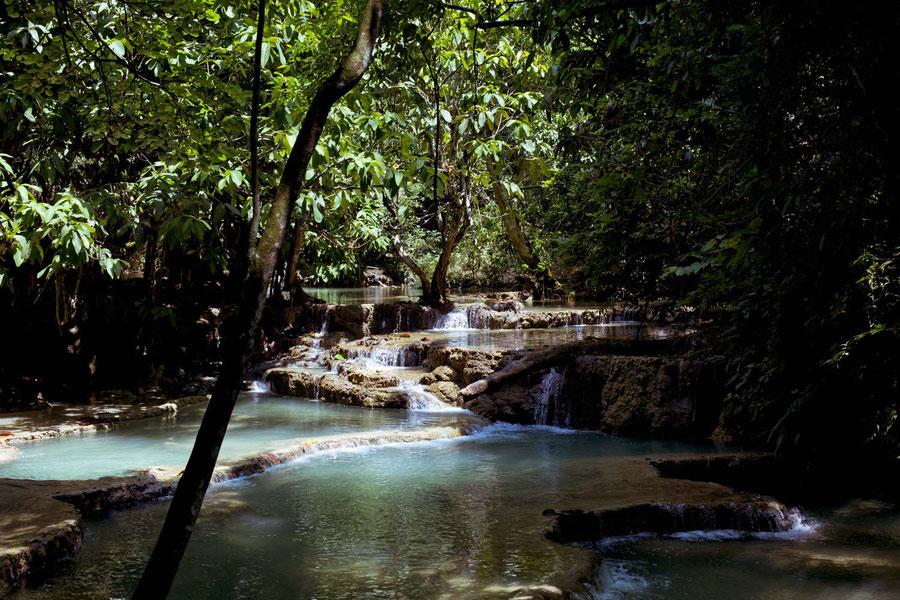 Kuang Si Wasserfall, bei Luang Prabang, Laos
