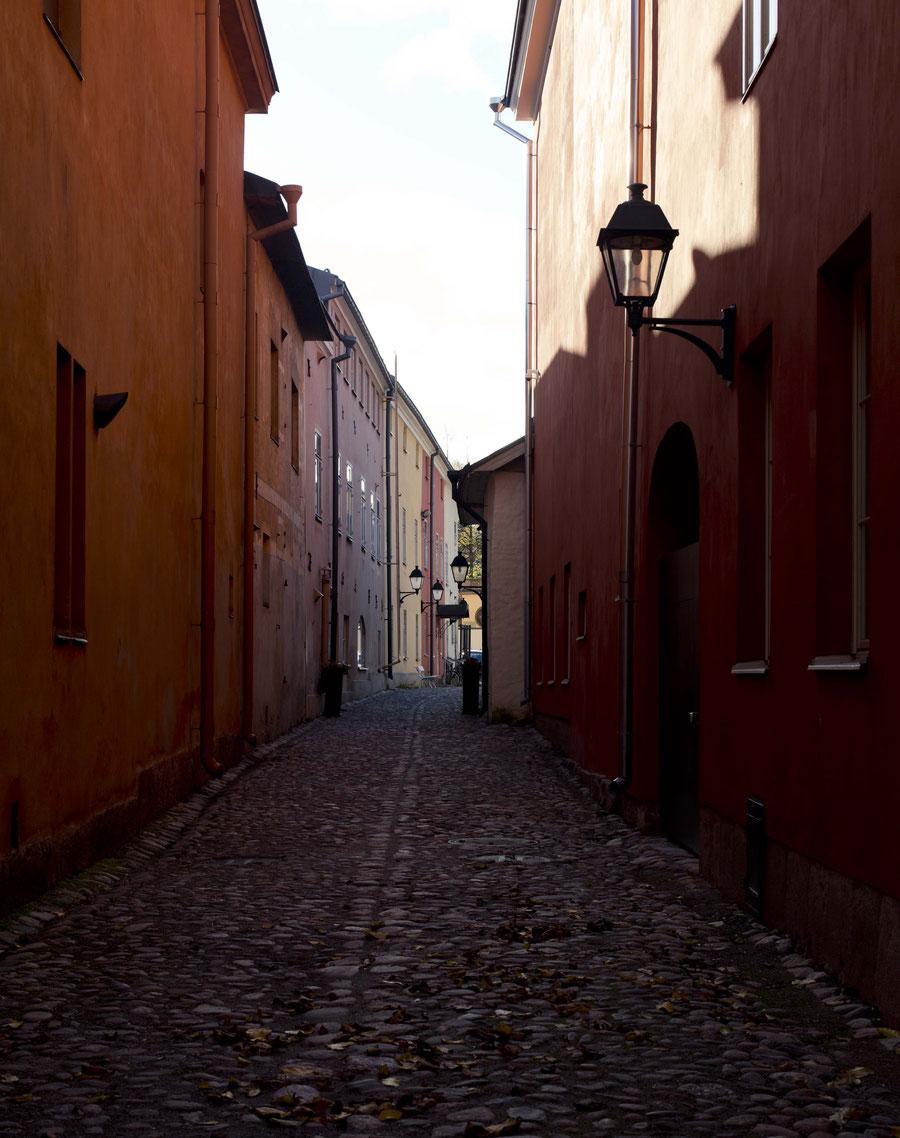 Mittelalterliche Straße in Turku, Finnland
