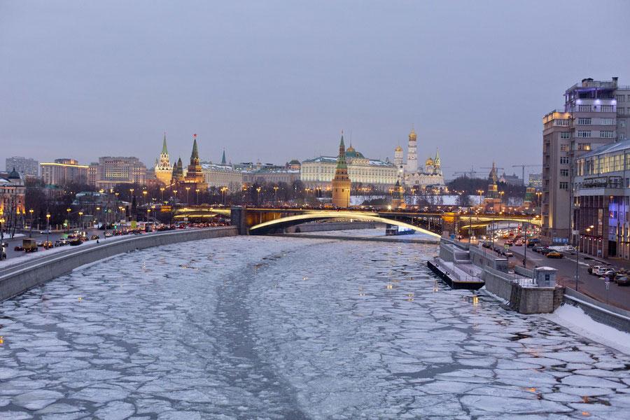 Kremlin und Citycenter, Moskau, Russland
