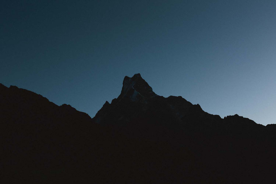 The approaching sun, Mardi Himal Trek, Nepal