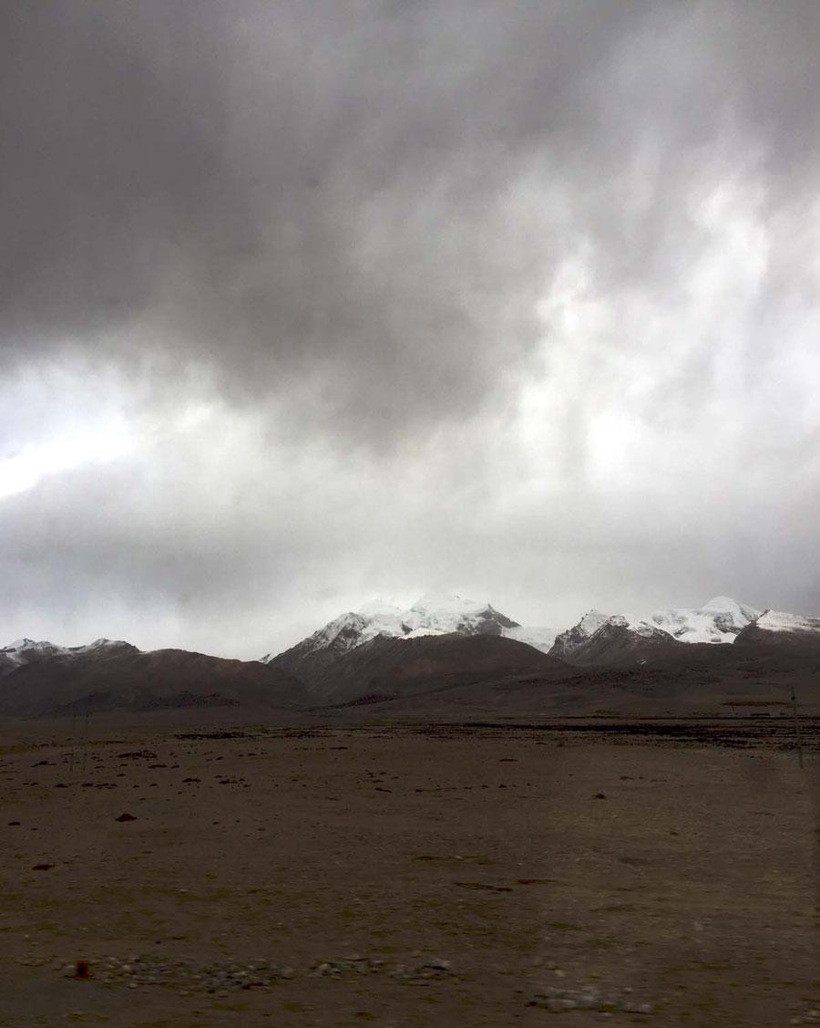 Tibet aus dem Zugfenster, China