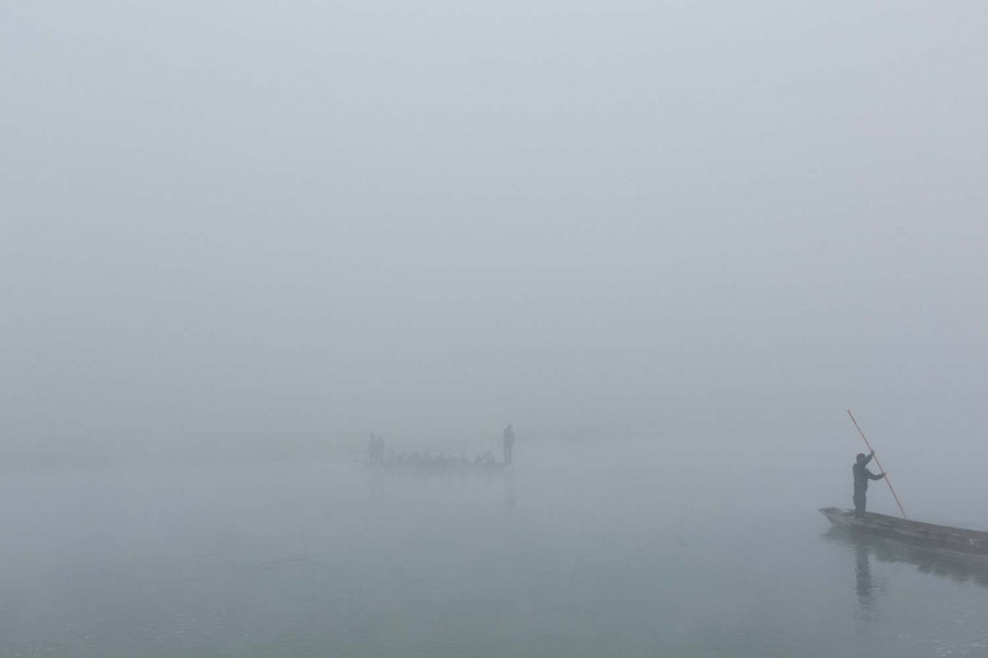 Dissapearing in the fog, Sauraha, Chitwan National Park, Nepal