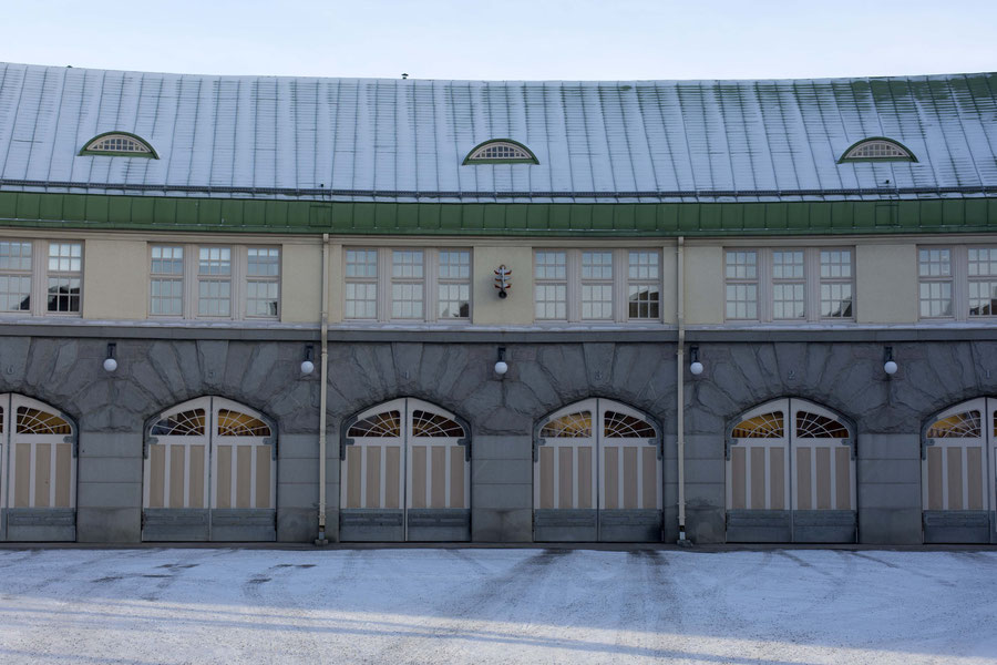 Turn of the century fire brigade building, Tampere, Finland