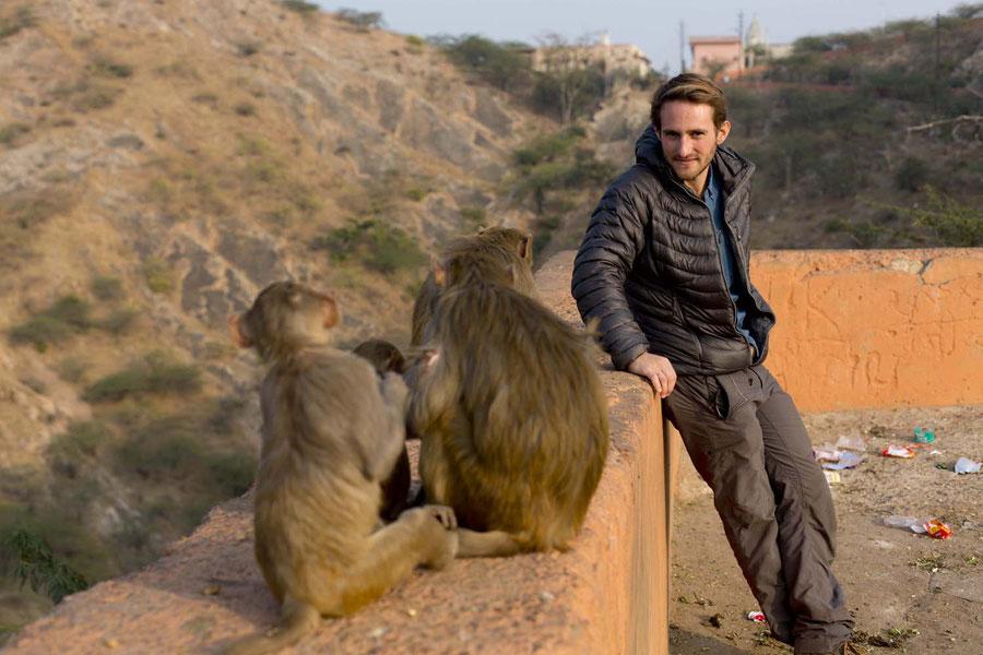 Beim Wiedersehen mit Jonathan in Jaipur, Indien