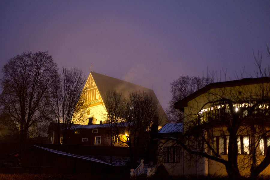 Stone church and landmark of Porvoo, Finnland