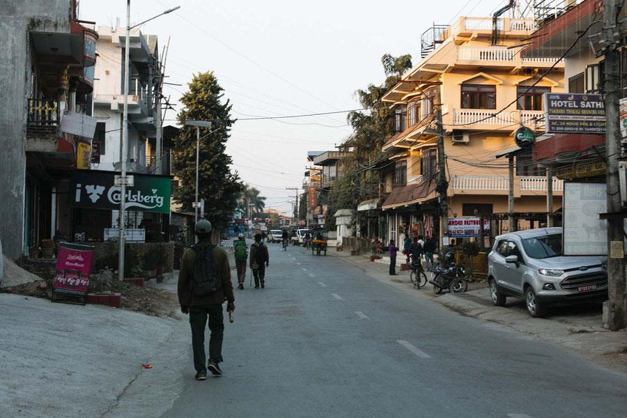 Main street, Sauraha, Chitwan National Parc, Nepal
