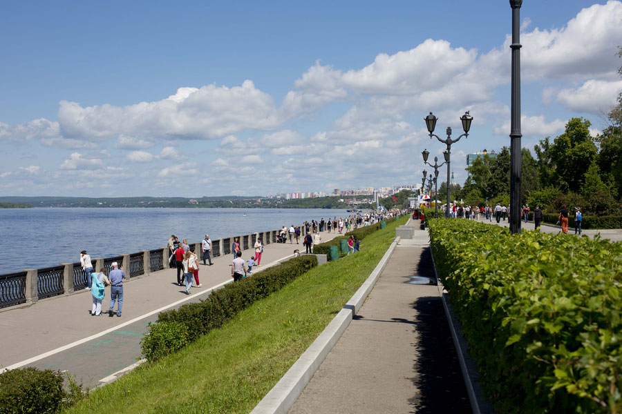 The embankment in summer, Samara, Russia