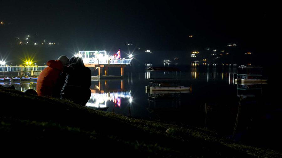 Pokhara in der Nacht, Nepal
