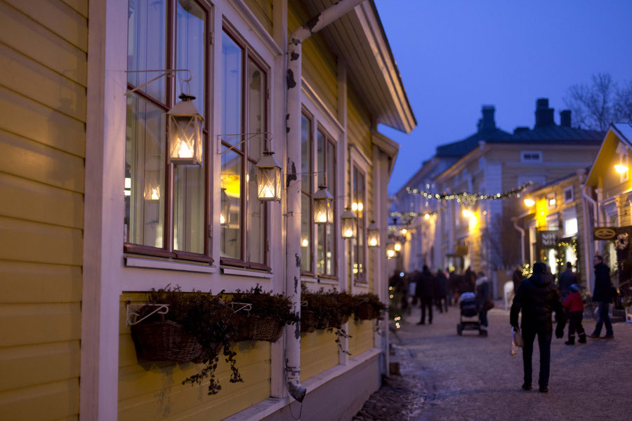 Christmasmarket in Porvoo, Finnland