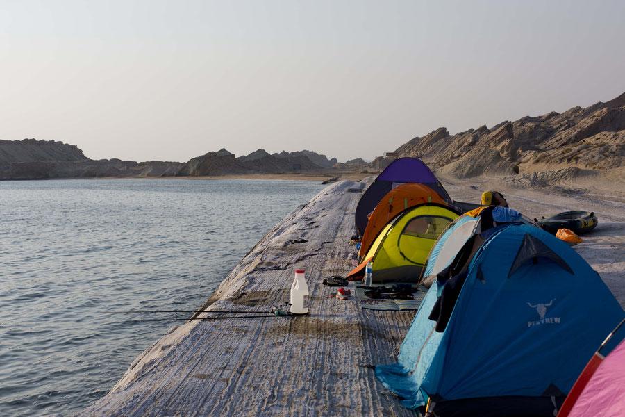 In einer Reihe campen, Persischer Golf, Iran