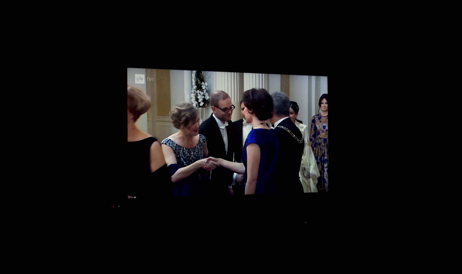 Händeschüttelzereminie des Finnischen Präsidenten und seiner Gattin, 2016