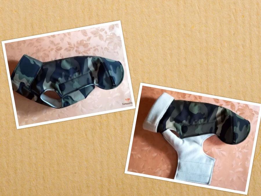 Hundemantel aus Softshell, wasserdicht