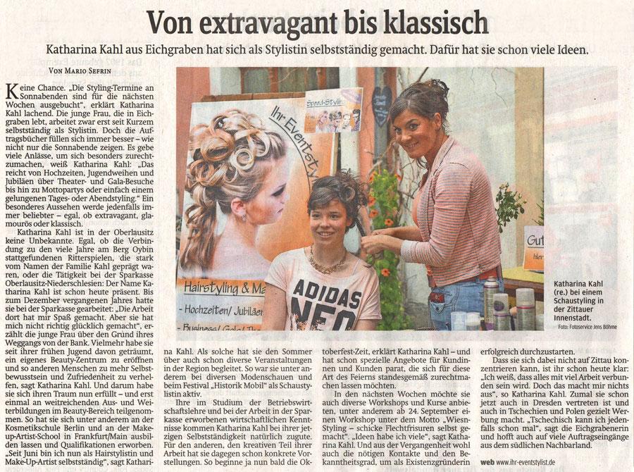 Artikel der Sächsischen Zeitung (Verfasser: Mario Sefrin) vom 11.09.2015