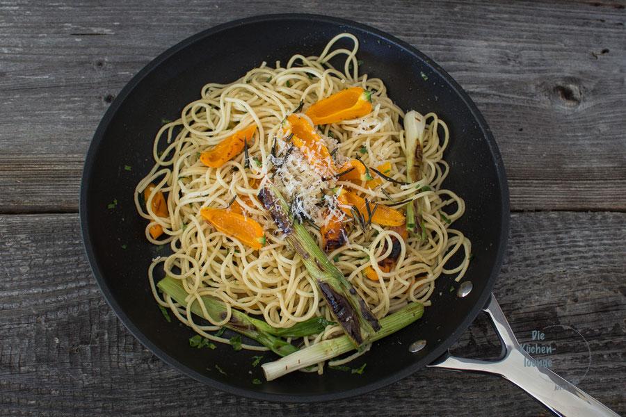 Foodphotography, Pasta mit gegrilltem Gemüse