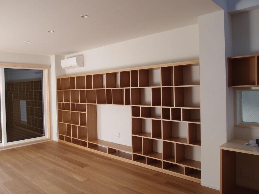 壁面収納 オーク オーダー家具