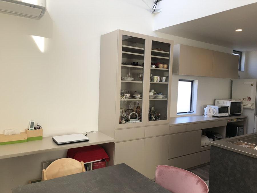 食器棚 カップボード カウンターデスク オーダー家具