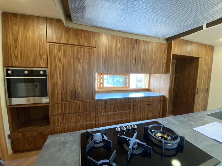 大型キッチン収納 壁面収納 チークの家具 オーダー家具