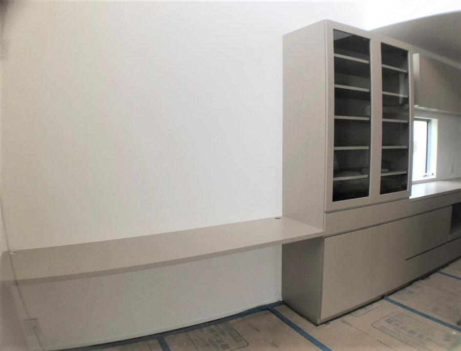 キッチン収納 カップボード 食器棚 カウンターデスク