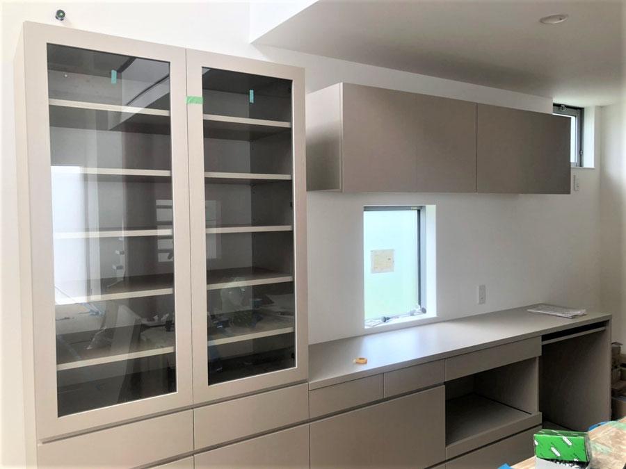 キッチン収納 カップボード 食器棚 オーダー家具