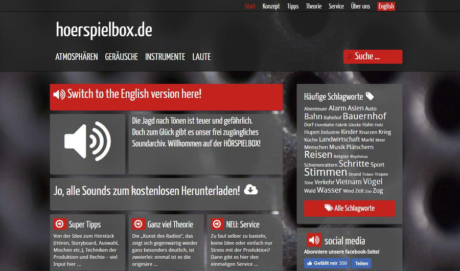 Website Screenshot von hoerspielbox