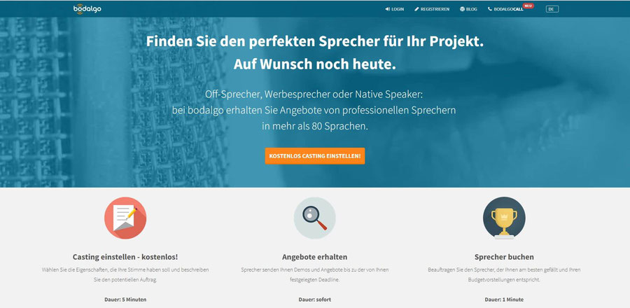 Website Screenshot von bodalgo