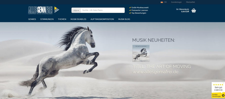 Website Screenshot von allesgemafrei