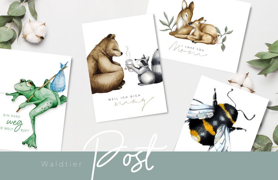 Watercolor Postkarten