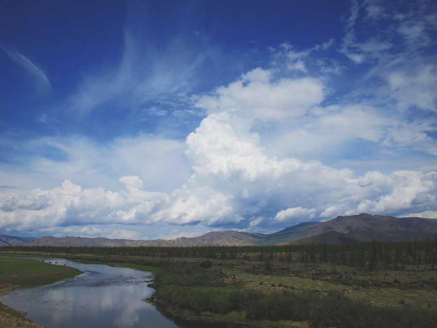 bigousteppes mongolie camion route paysage steppes ciel