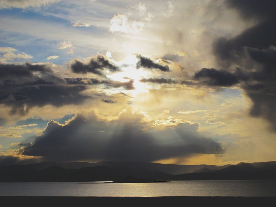bigousteppes mongolie steppes lac soleil ciel