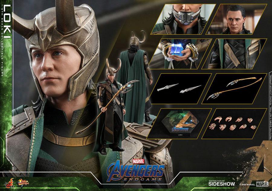 Loki 1/6 Avengers: Endgame Movie Marvel Movie Masterpiece Actionfigur 30cm Hot Toys HOT906459