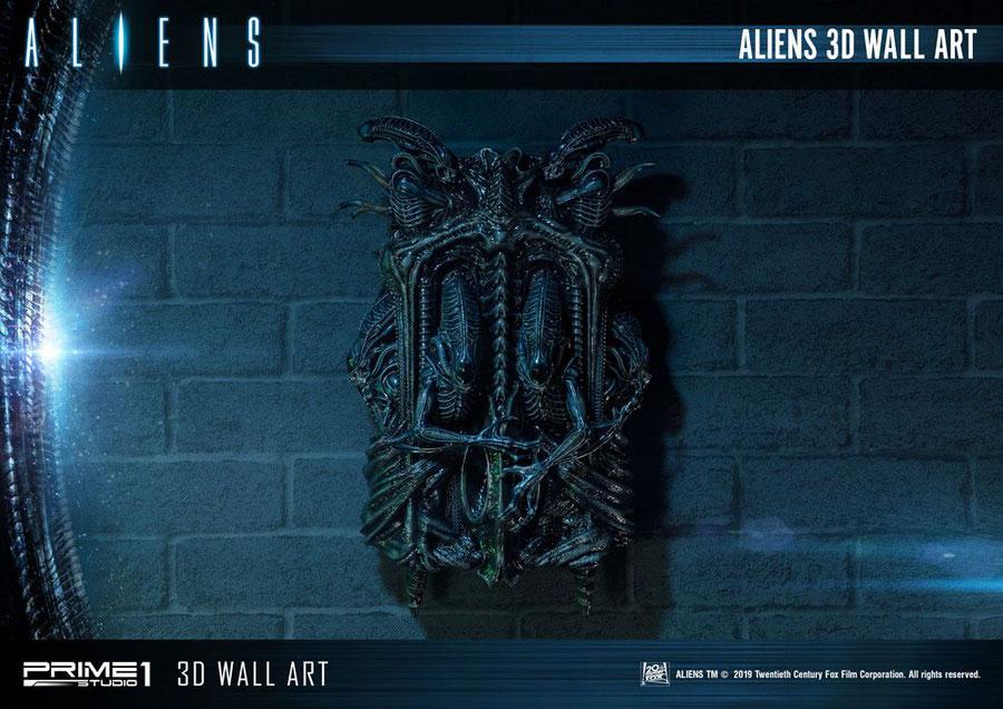 Aliens 3D Wand-Relief Alien Warrior 50x32cm Prime 1 Studio p1swaal-01