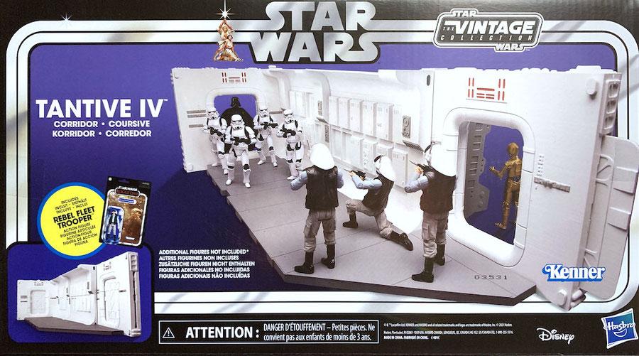 Tantive IV Hallway mit Rebel Fleet Trooper Star Wars Episode IV Vintage Collection Diorama Actionfigur 10cm Hasbro