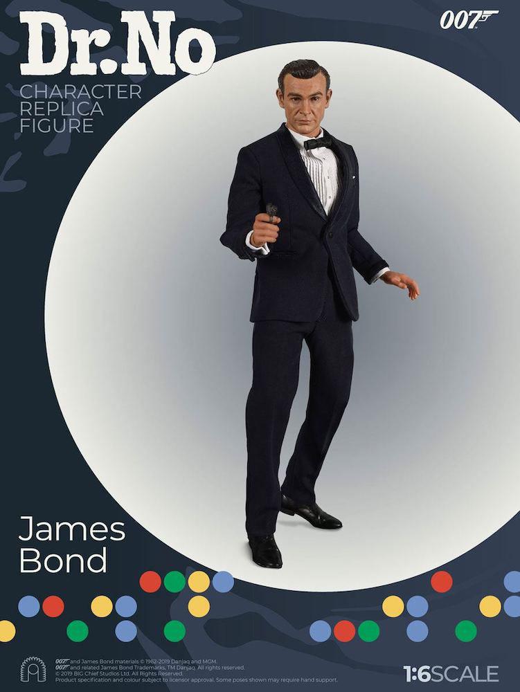 James Bond Limited Edition 1/6 James Bond (Sean Connery- Black Suit) - 007 jagt Dr. No Collector Figure Series Actionfigur 30cm Big Chief Studios