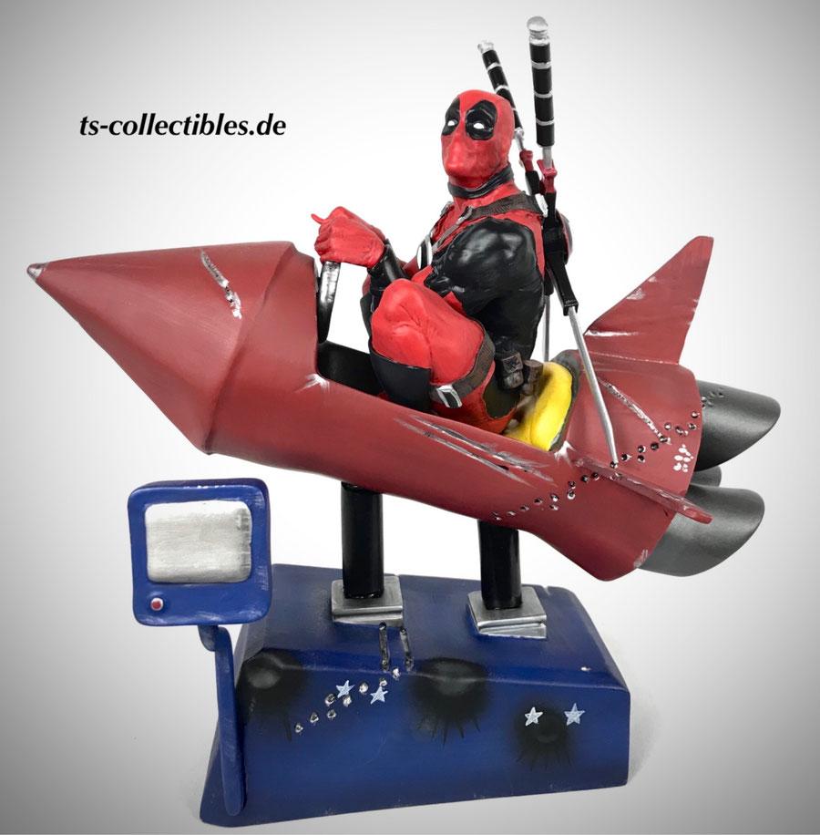 Deadpool Rocket Ride Premium Motion Statue 25cm Marvel Statue Factory Entertainment FACE408719