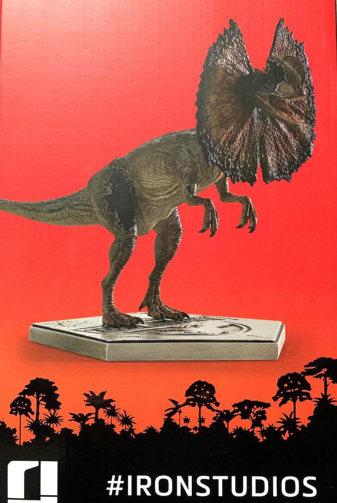 Dilophosaurus 1/10 Jurassic Park Art Scale Statue 18cm Iron Studios