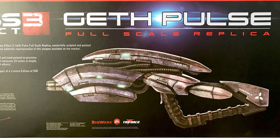 Geth Pulse Rifle 1/1 Life-Size Mass Effect 3 Game 84cm Triforce