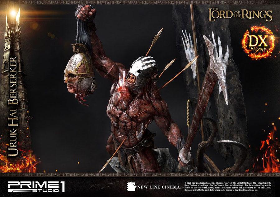 Uruk-Hai Berserker Deluxe Version 1/4 Herr der Ringe Statue 93cm Prime 1 Studio