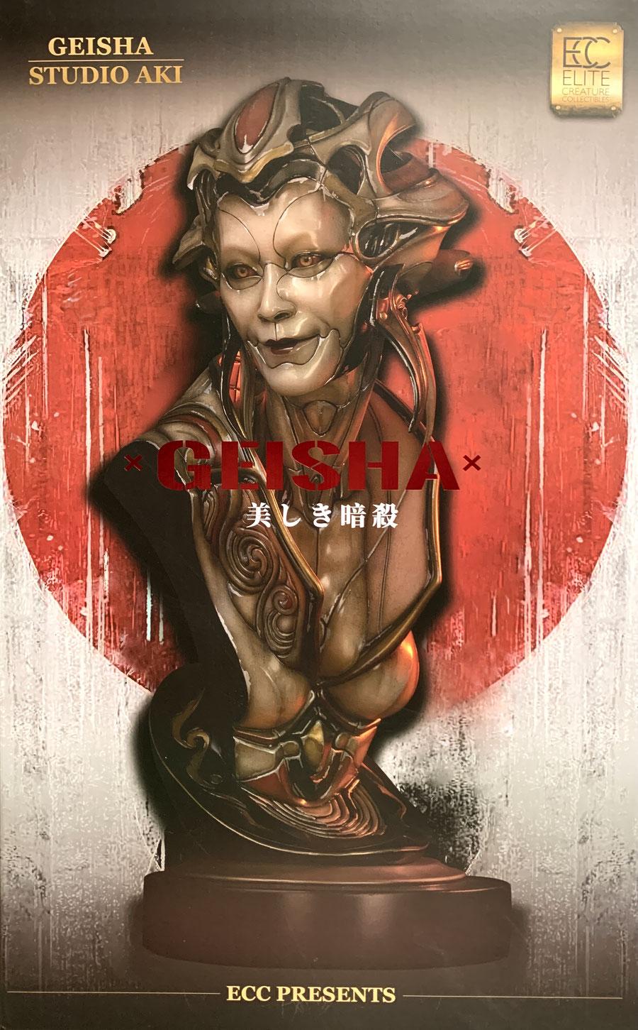 Geisha 1/1 Life-Size Büste by Akihito 81cm ECC