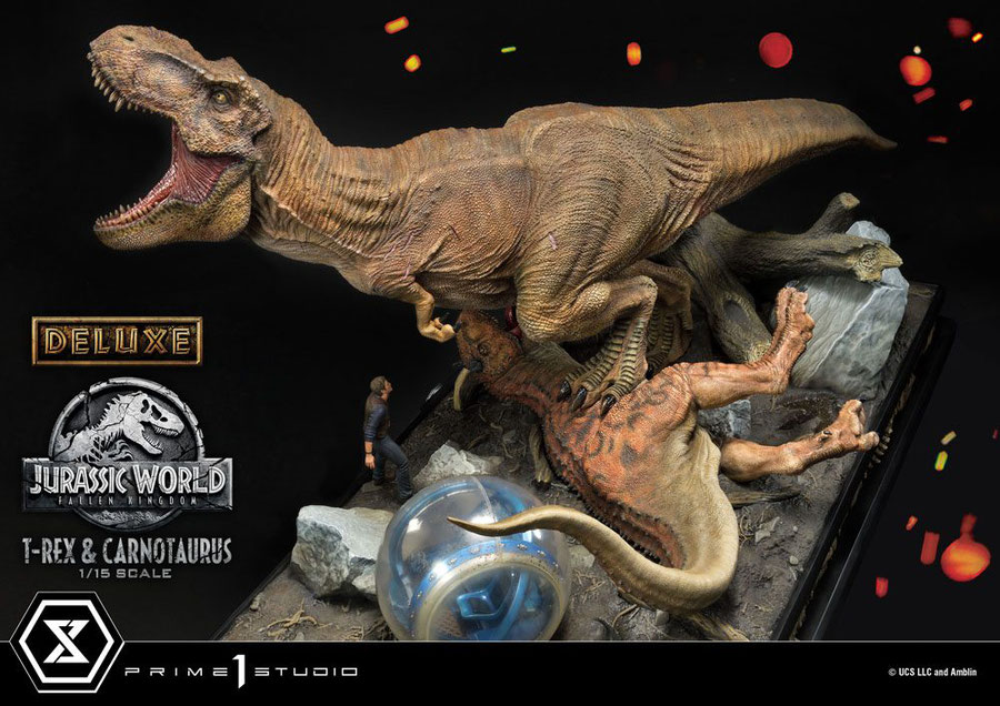 T-Rex & Carnotaurus Deluxe Version 1/15 Jurassic World: Fallen Kingdom Statue 90cm Prime 1 Studio