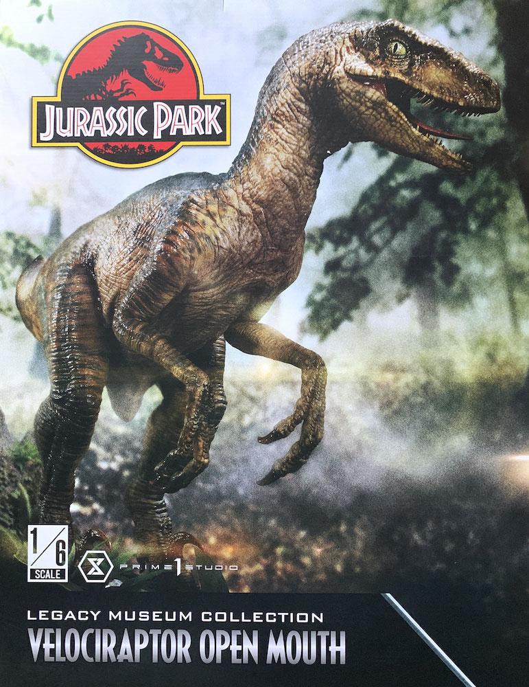 Velociraptor (open Mouth) 1/6 Jurassic Park 41cm Statue Prime 1 Studio