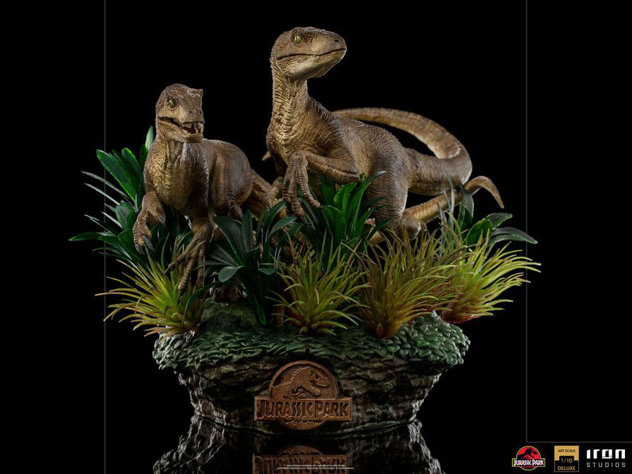 Just The Two Raptors Deluxe 1/10 Jurassic Park Art Scale Resin Statue / Diorama 20cm Iron Studios