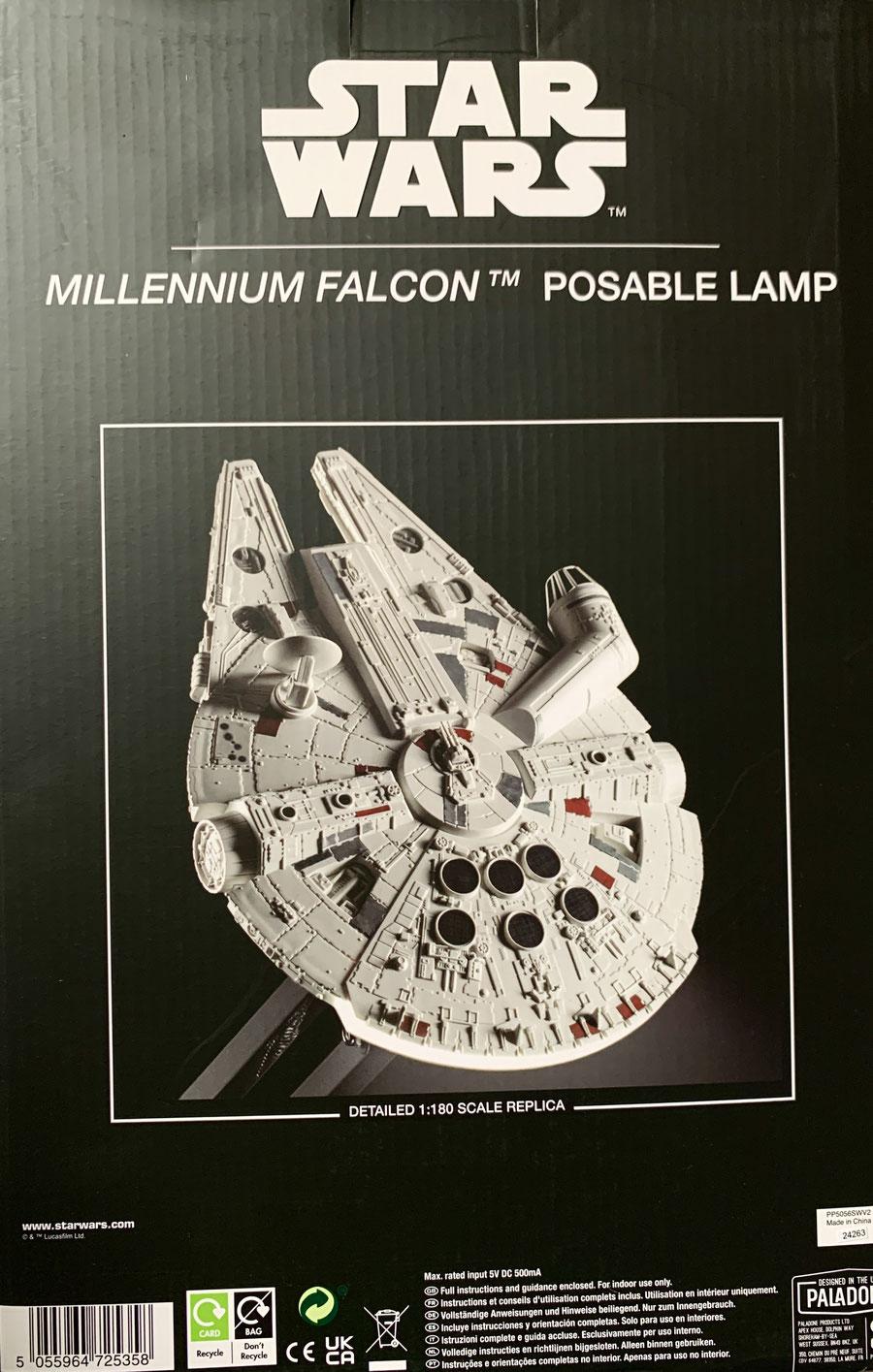 Millennium Falcon Schreibtischlampe Star Wars USB Leuchte 60cm Paladone