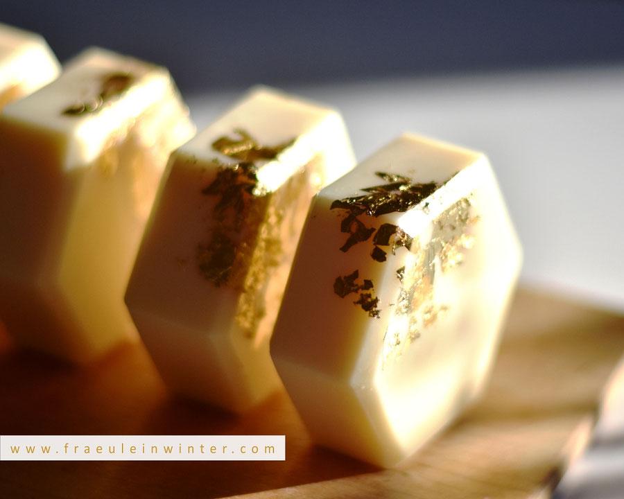 Vergoldete Seife. Mit Arganöl und Orangenduft. | Fräulein Winter
