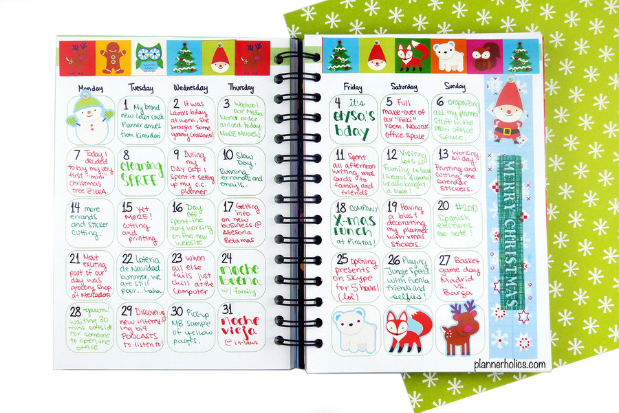 Journal your daily highlights in a monthly calendar