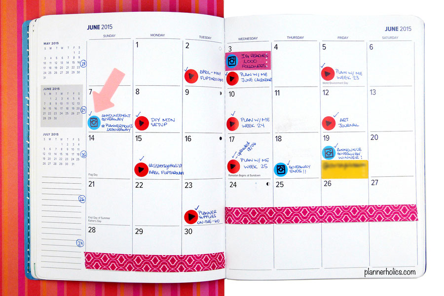 Using a Monthly Layout as your Editorial Calendar