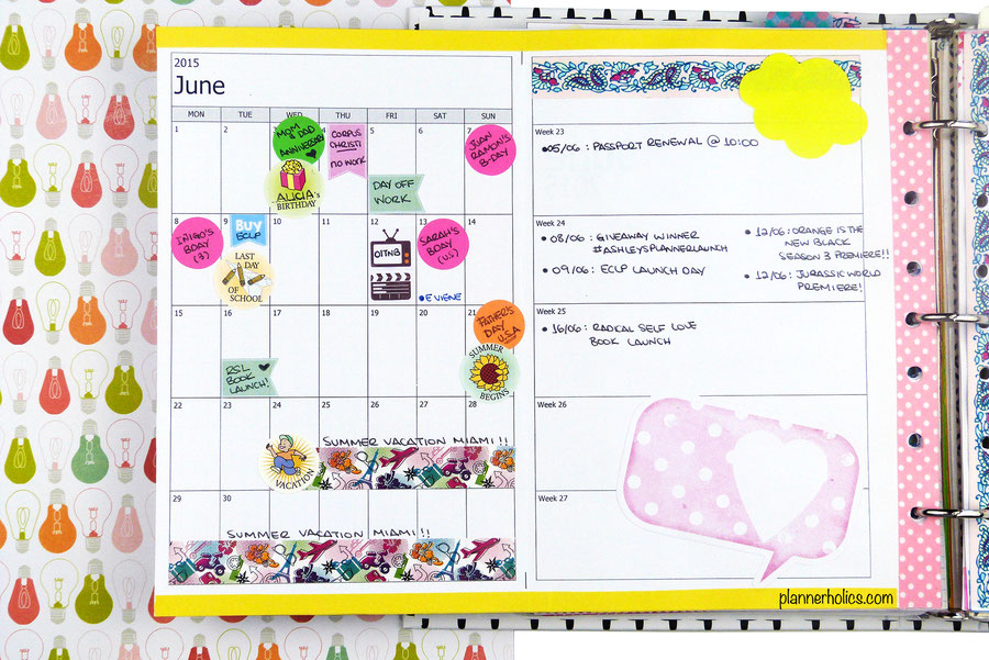 how to use your calendar pages